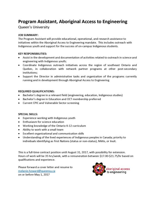 Now Hiring Aboriginal Access To Engineering